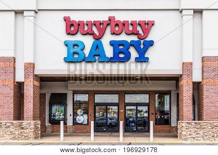 Springfield, Usa - February 28, 2017: Buy Buy Baby Store Facade Exterior