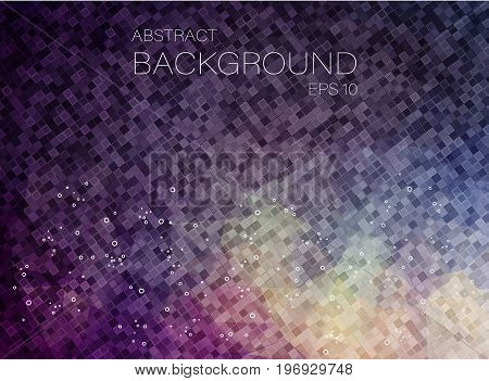 Polygonal background. Composition with square geometric shapes