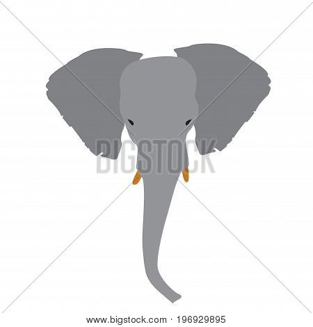 Isolated abstract elephant head, Animal Vector illustration
