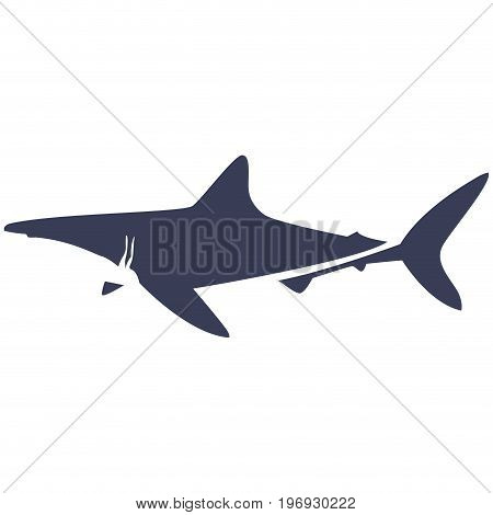 Isolated abstract shark on a white background, Vector illustration