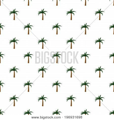 Palm pattern seamless repeat in cartoon style vector illustration
