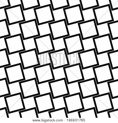 Abstract seamless black and white angular square pattern design background