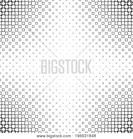 Black and white abstract square pattern design background