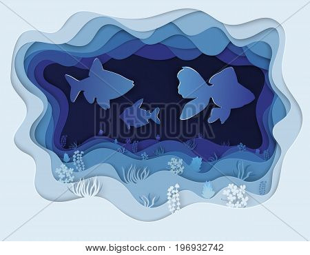 Illustration Of A Beautiful Fish In A Jamb