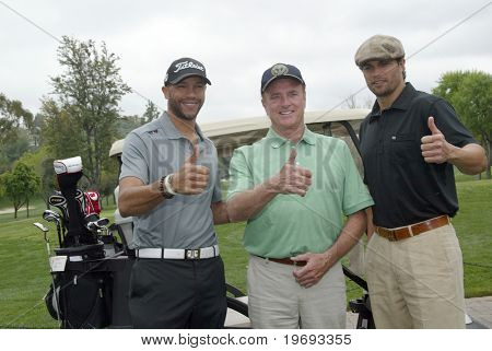 TARZANA, CA - APRIL 18: Stephen Bishop, Kevin Dobson and Scott Elrod (L-R) arrive at the 8th annual