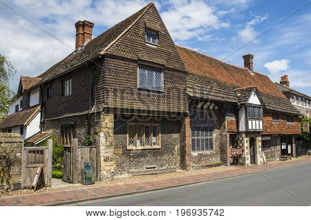 LEWES UK - MAY 31ST 2017: The historic Anne of Cleves House in the town of Lewes in East Sussex UK on 31st May 2017.