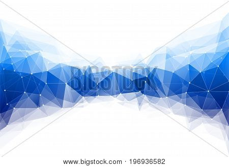 Vector illustration of color triangle geometric pattern backround with lines and dots