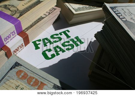 Fast Cash With Money High Quality Stock Photo