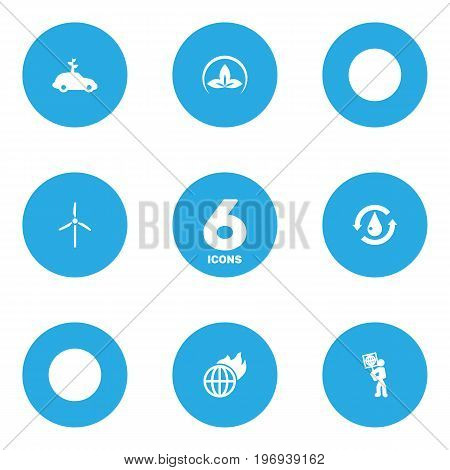 Collection Of Warm, Volunteer, Fan And Other Elements.  Set Of 6 Atmosphere Icons Set.