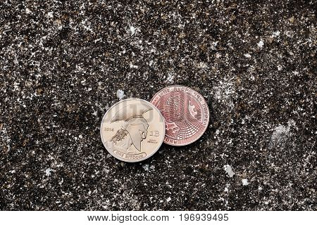 Gold Titan Bitcoin Coin
