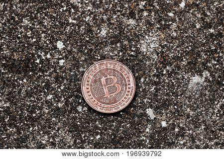 Brass Bitcoin Coin
