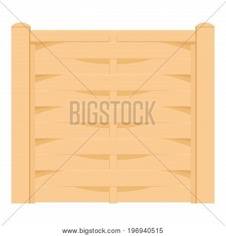 Wicker fence icon. Cartoon illustration of wicker fence vector icon for web on white background