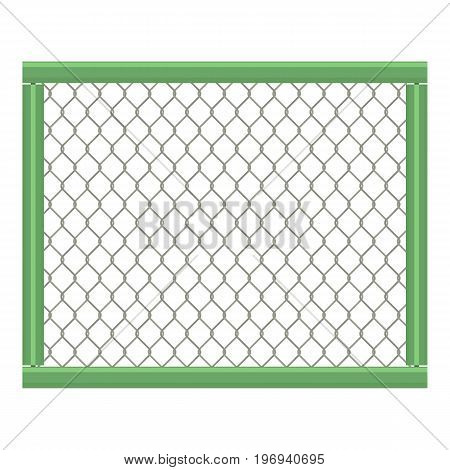 Grid fence icon. Cartoon illustration of grid fence vector icon for web on white background
