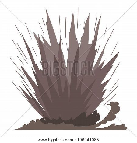 Dirt explosion icon. Cartoon illustration of dirt explosion vector icon for web