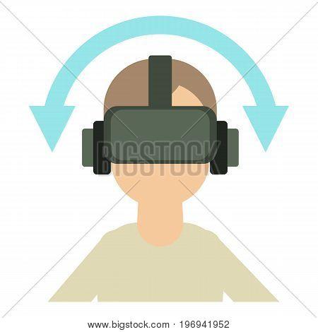 Game reality glasses icon. Cartoon illustration of game reality glasses vector icon for web on white background