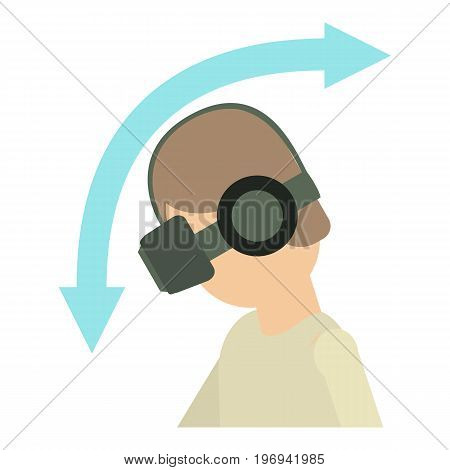 VR goggles icon. Cartoon illustration of vr goggles vector icon for web on white background