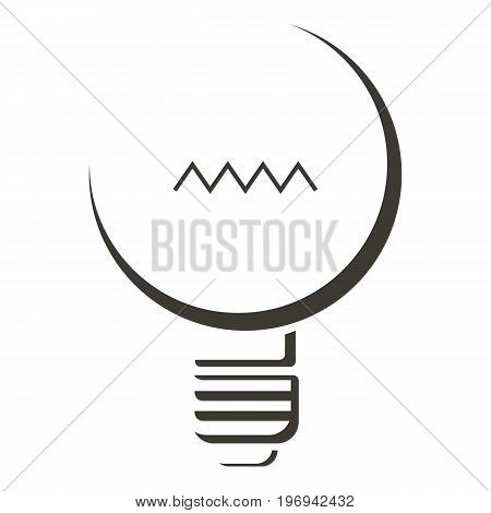 Black lamp icon. Cartoon illustration of black lamp vector icon for web on white background