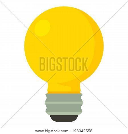 Yellow light bulb icon. Cartoon illustration of yellow light bulb vector icon for web on white background