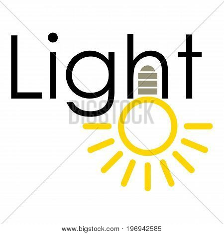Light icon. Cartoon illustration of light vector icon for web on white background