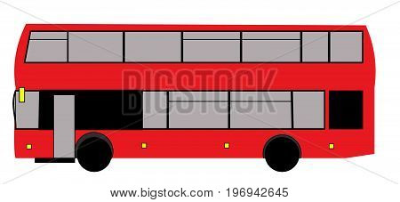 vector London red bus double decker bus large red bus