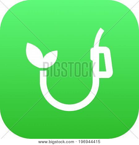 Vector Eco  Element In Trendy Style.  Isolated Fuel Icon Symbol On Clean Background.