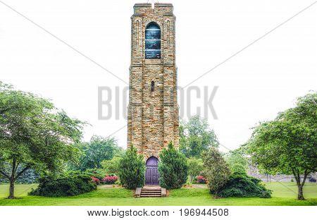 Frederick, Usa - May 24, 2017: Baker Park Gazebo Joseph Dill Baker Memorial Carillon In Downtown Cit