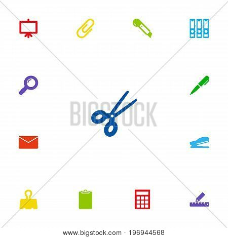 Collection Of Information, Calculate, Ink And Other Elements.  Set Of 13 Instruments Icons Set.