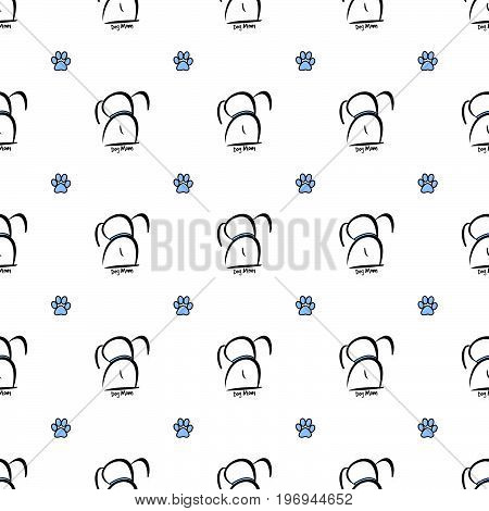 This sweet boy dog mom seamless pattern can be pieced together to make any size illustration you need for your projects.