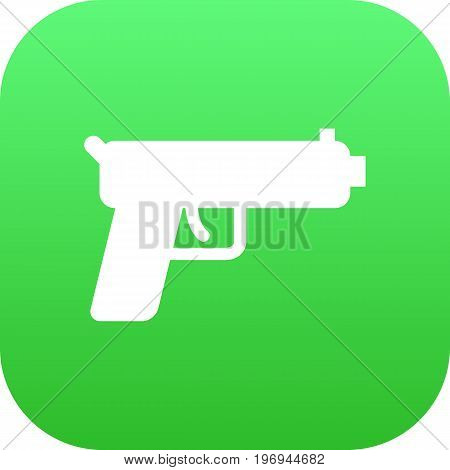 Vector Shot Element In Trendy Style.  Isolated Gun Icon Symbol On Clean Background.