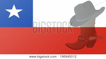 Texas flag. Texas concept. Boot. Hat. Cartoon