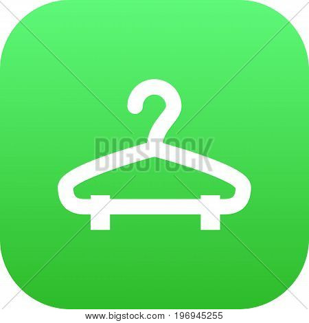 Vector Rack Element In Trendy Style.  Isolated Hanger Icon Symbol On Clean Background.