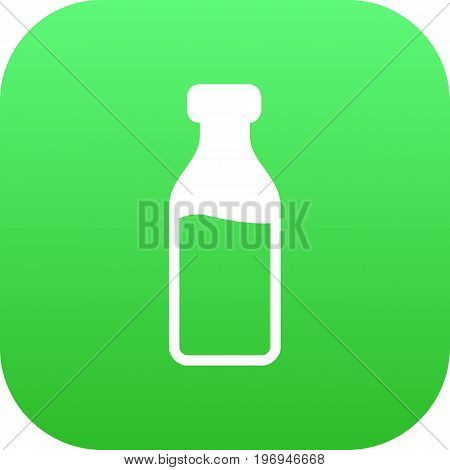Vector Milk Glass Element In Trendy Style.  Isolated Dairy Icon Symbol On Clean Background.