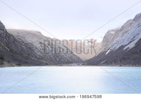 Emerald Lake (laguna Esmeralda) In Ushuaia.