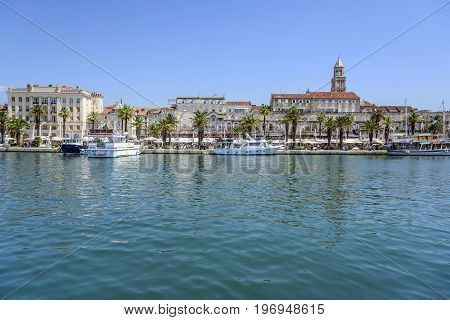SPLIT, CROATIA - JULY 12, 2017: Diocletian's Palace in Split Croatia