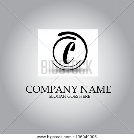 Letter EC logo design concept on simple background