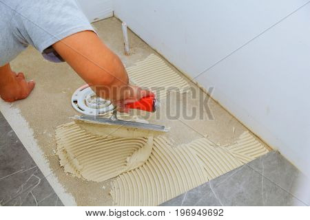 Stylish Trendy White Ceramic Tile With A Chamfer On The Repair Of Apartments And Bathrooms.