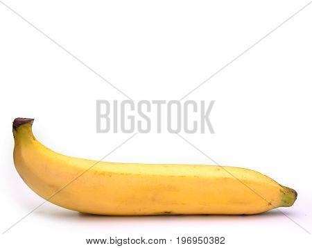 bananas isolated on white background.(with free space for text)