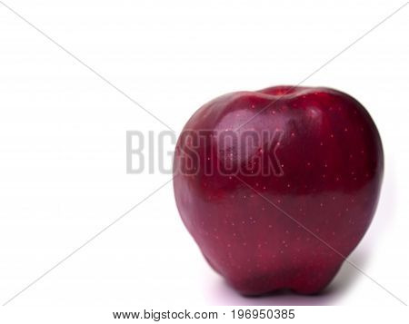 (Close up) Red apple fruit with isolated on white background.