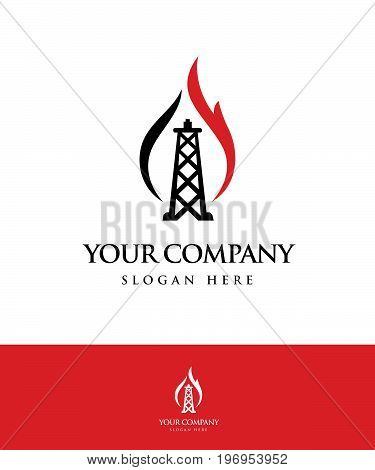 Gas and Oil logo. Logo template. Icon. Vector illustration.