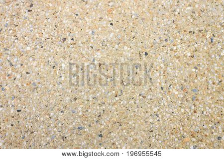 Gravel background for design. Yellow gravel background. Gravel background and small stone. Real Gravel background