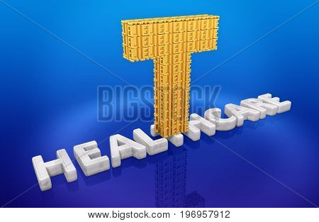 T Made Of Lies On Healthcare 3D Illustration