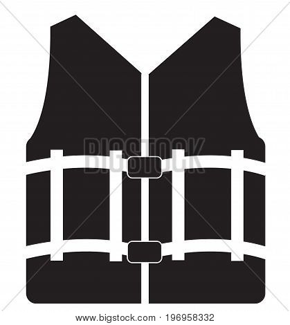 life vest icon on white background. life vest sign. flat style design.
