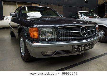 BERLIN - MAY 10 2015: Full-size luxury car Mercedes-Benz 560 SEC (C126) 1991. 28th Berlin-Brandenburg Oldtimer Day