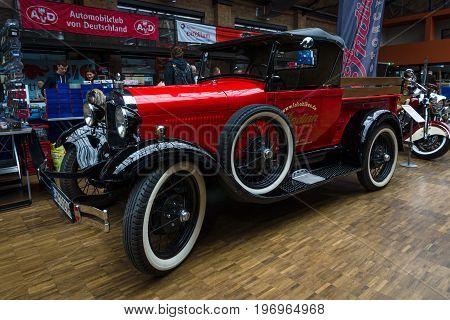 BERLIN - MAY 10 2015: Pickup Ford Model A (1927). 28th Berlin-Brandenburg Oldtimer Day