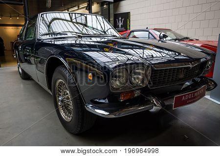 BERLIN - MAY 10 2015: Sports car Maserati Kyalami (Tipo 129). 28th Berlin-Brandenburg Oldtimer Day