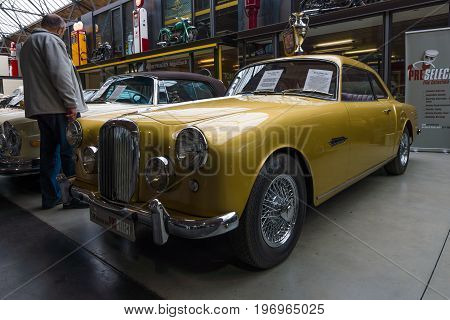BERLIN - MAY 10 2015: British sports saloon Alvis TD 21 Mk I 1960. 28th Berlin-Brandenburg Oldtimer Day