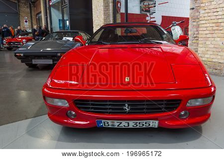 BERLIN - MAY 10 2015: Sports car Ferrari F355 Spider (Type F129). 28th Berlin-Brandenburg Oldtimer Day