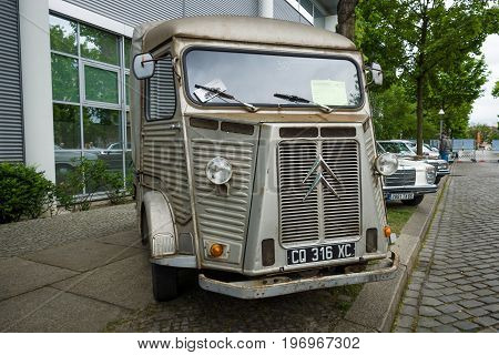BERLIN - MAY 10 2015: Vintage van Citroen H Van (HY 72) 1973. The most popular post-war French model of the van. Years of production: from 1947 to 1981
