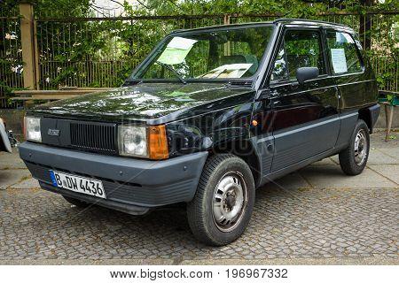 BERLIN - MAY 10 2015: City car Fiat Panda 45 (Tipo 141) 1983. The 28th Berlin-Brandenburg Oldtimer Day