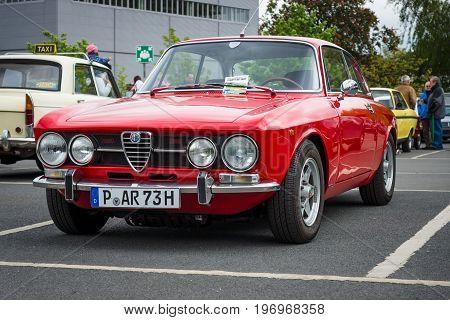 BERLIN - MAY 10 2015: Sports car Alfa Romeo 2000 GT Veloce (GTV). 28th Berlin-Brandenburg Oldtimer Day